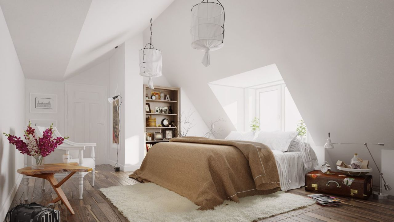 Thiết kế phòng ngủ master màu trắng