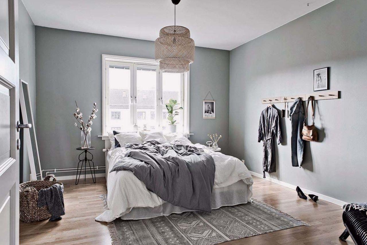 Nội thất phòng ngủ phong cách Scandianvian tông màu xám