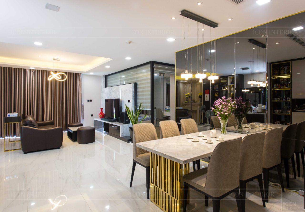 thiết kế thi công nội thất chung cư 110m2