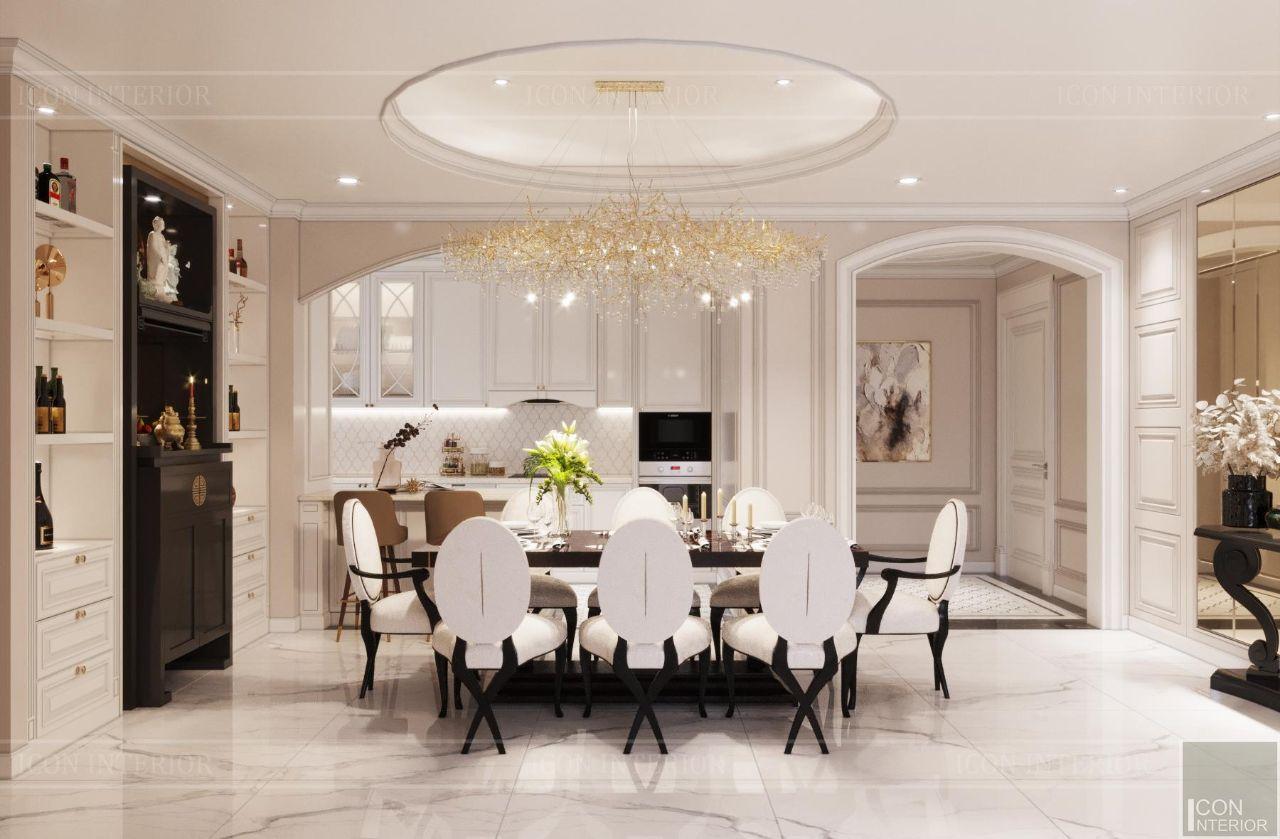 thiết kế và thi công nội thất căn hộ 110m2