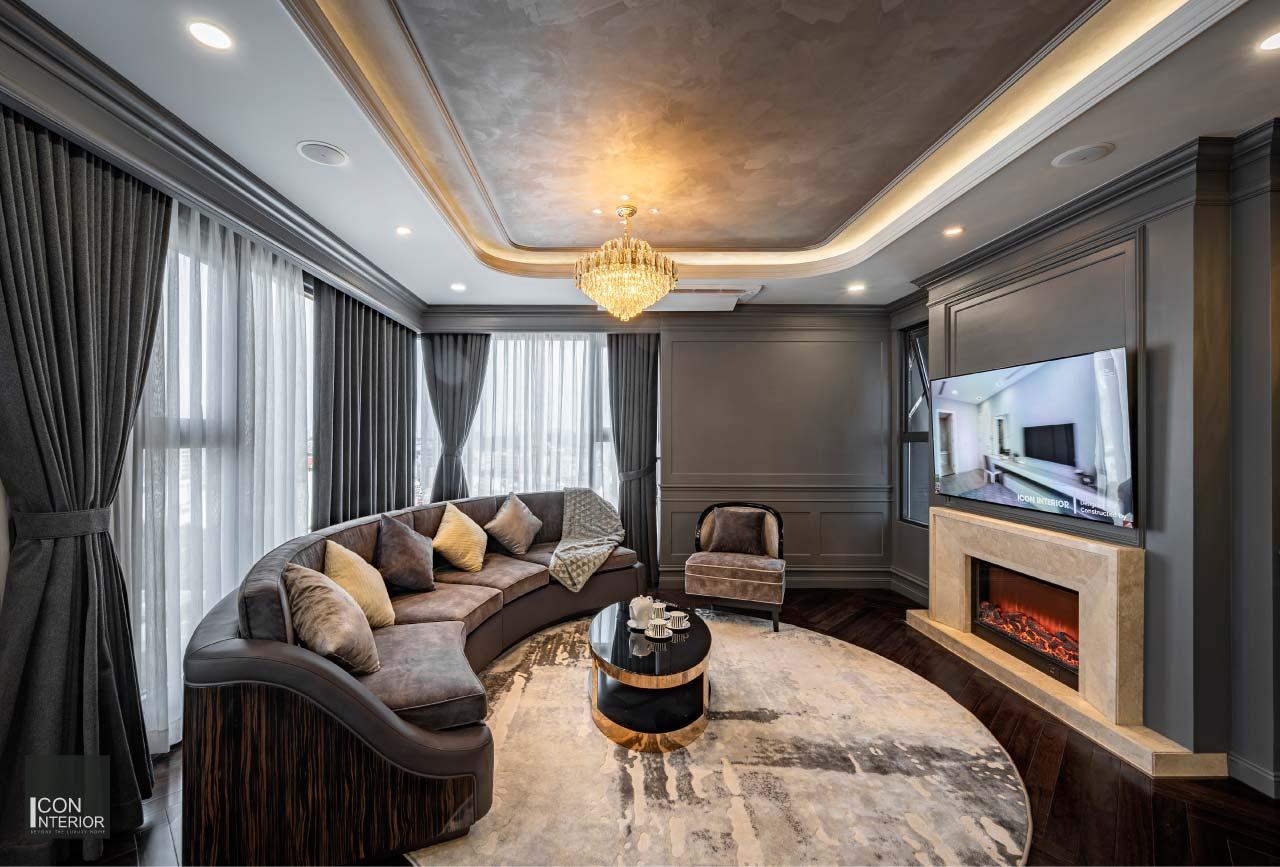Phòng khách căn hộ Kingdom 101 100m2 Mr. Shang