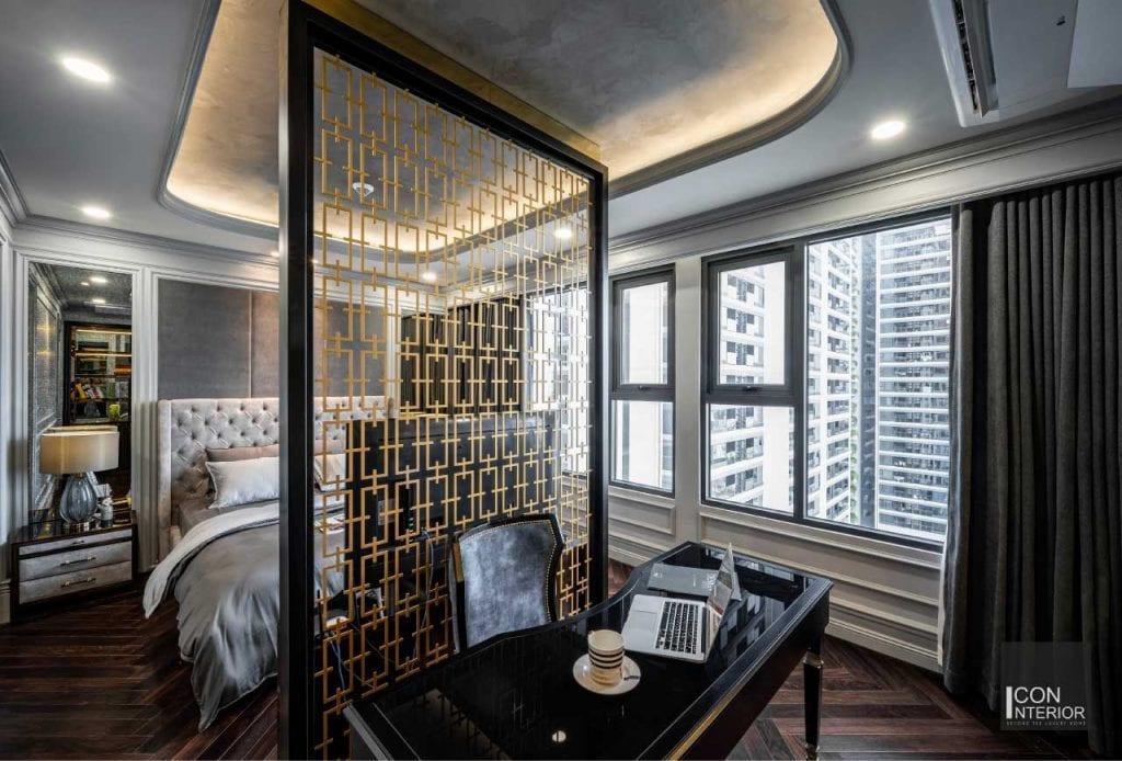 Toàn cảnh phòng master căn hộ Kingdom 101 100m2 Mr. Shang