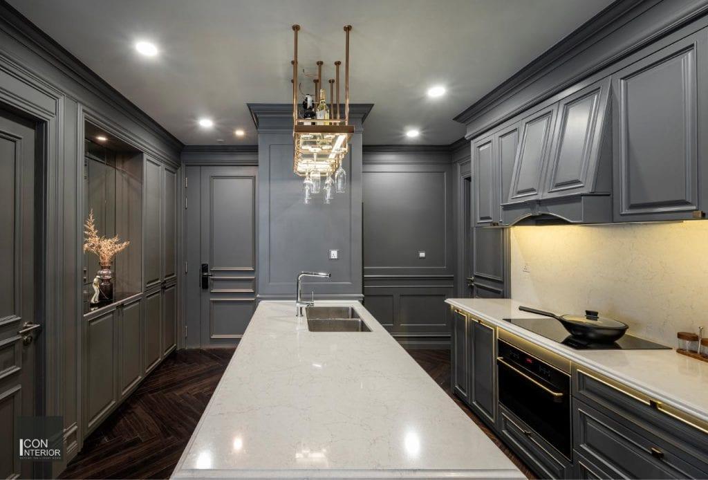 Nội thất bếp căn hộ Kingdom 101 100m2 Mr. Shang