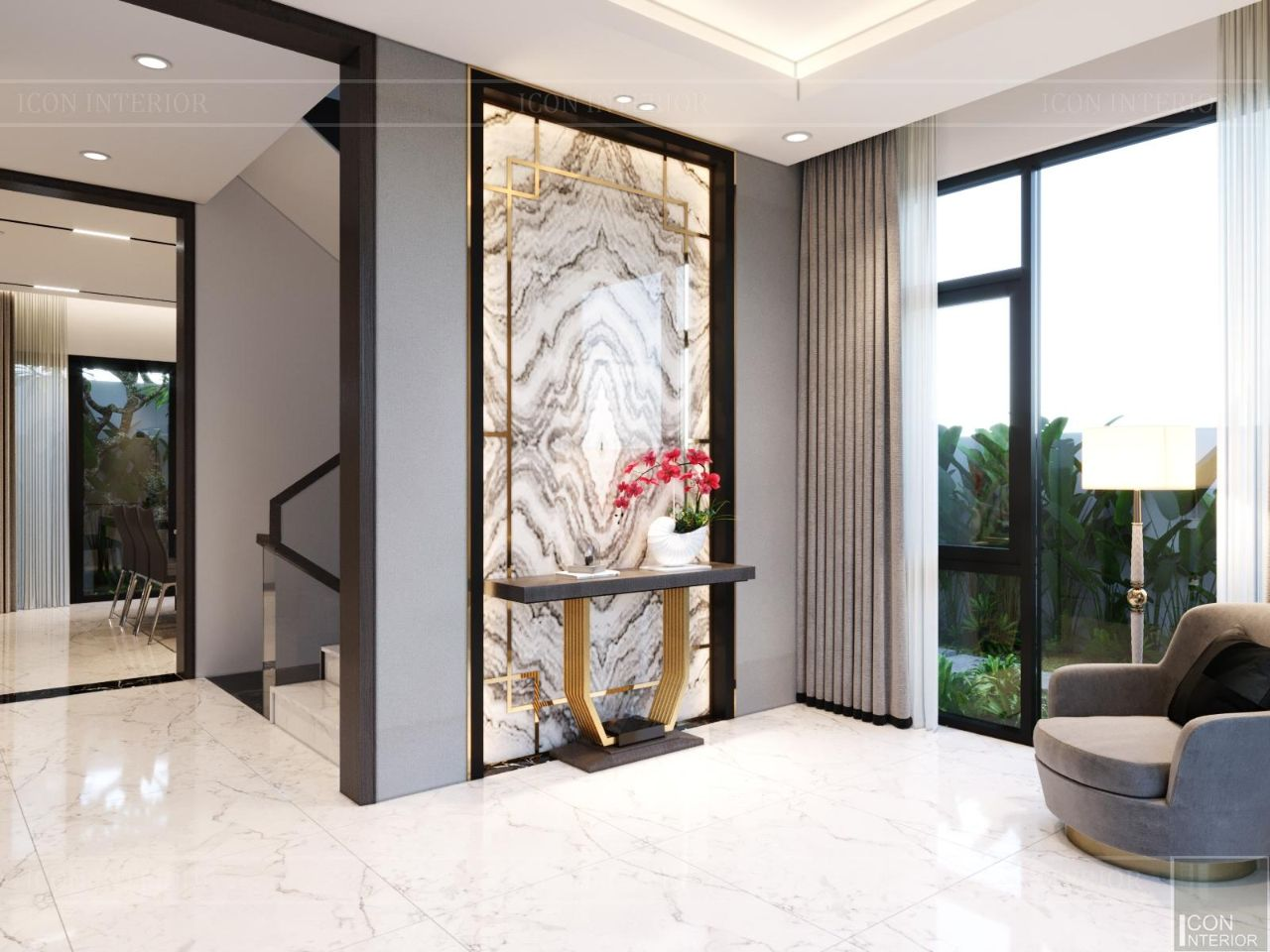 Trang trí tường phòng khách hiện đại