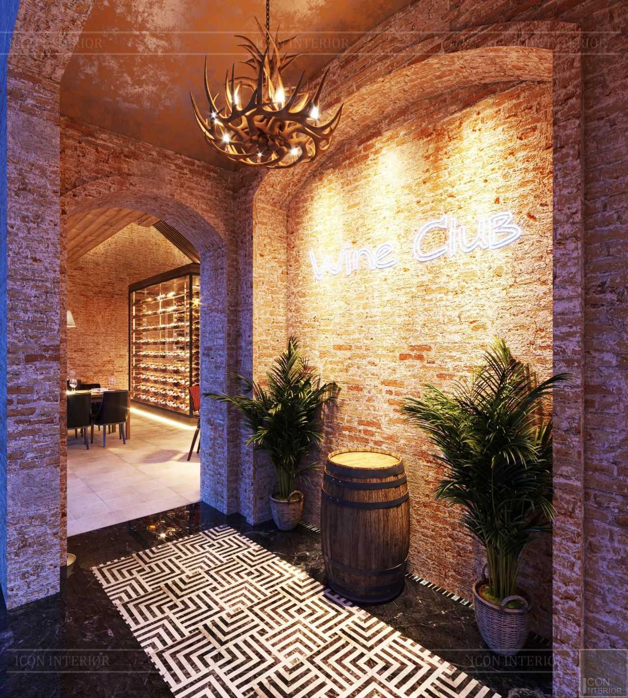thiết kế lối vào Wine Club