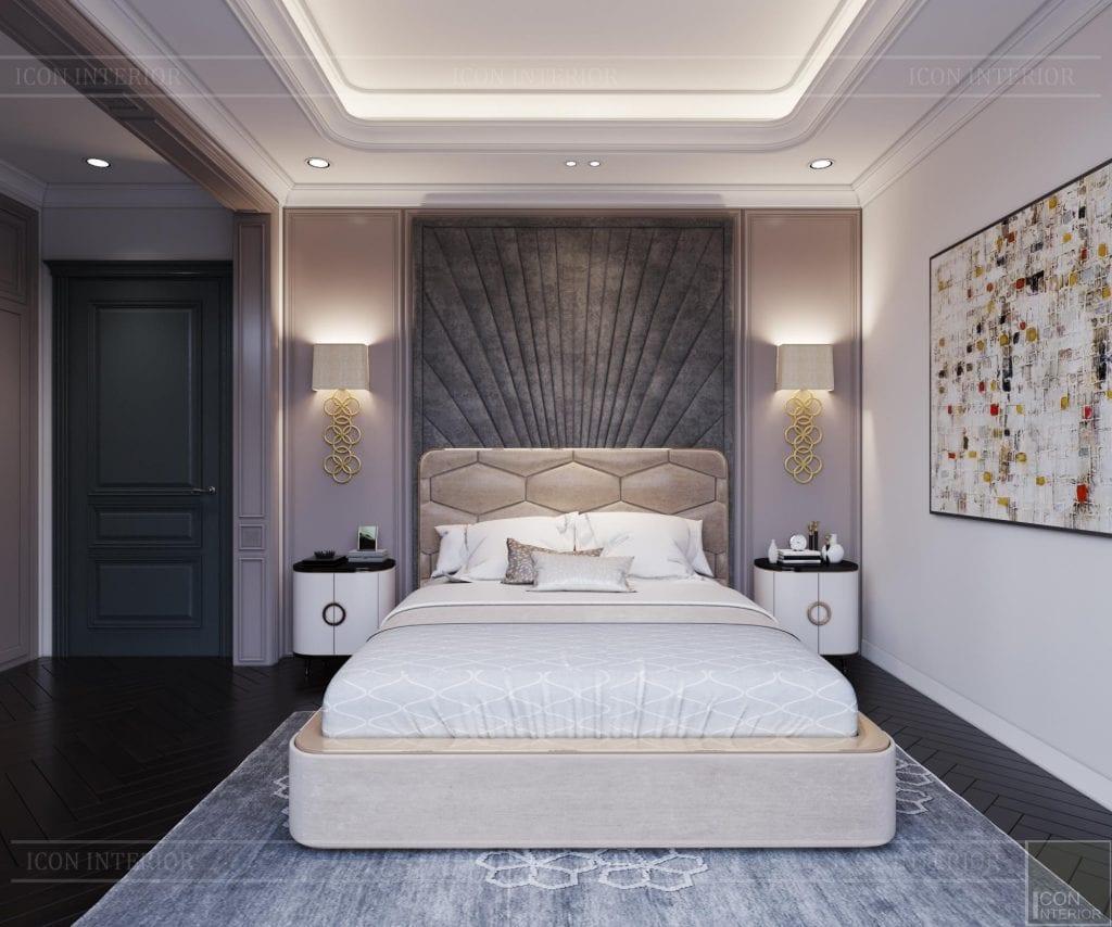 Phòng ngủ tông trắng hiện đại trang nhã