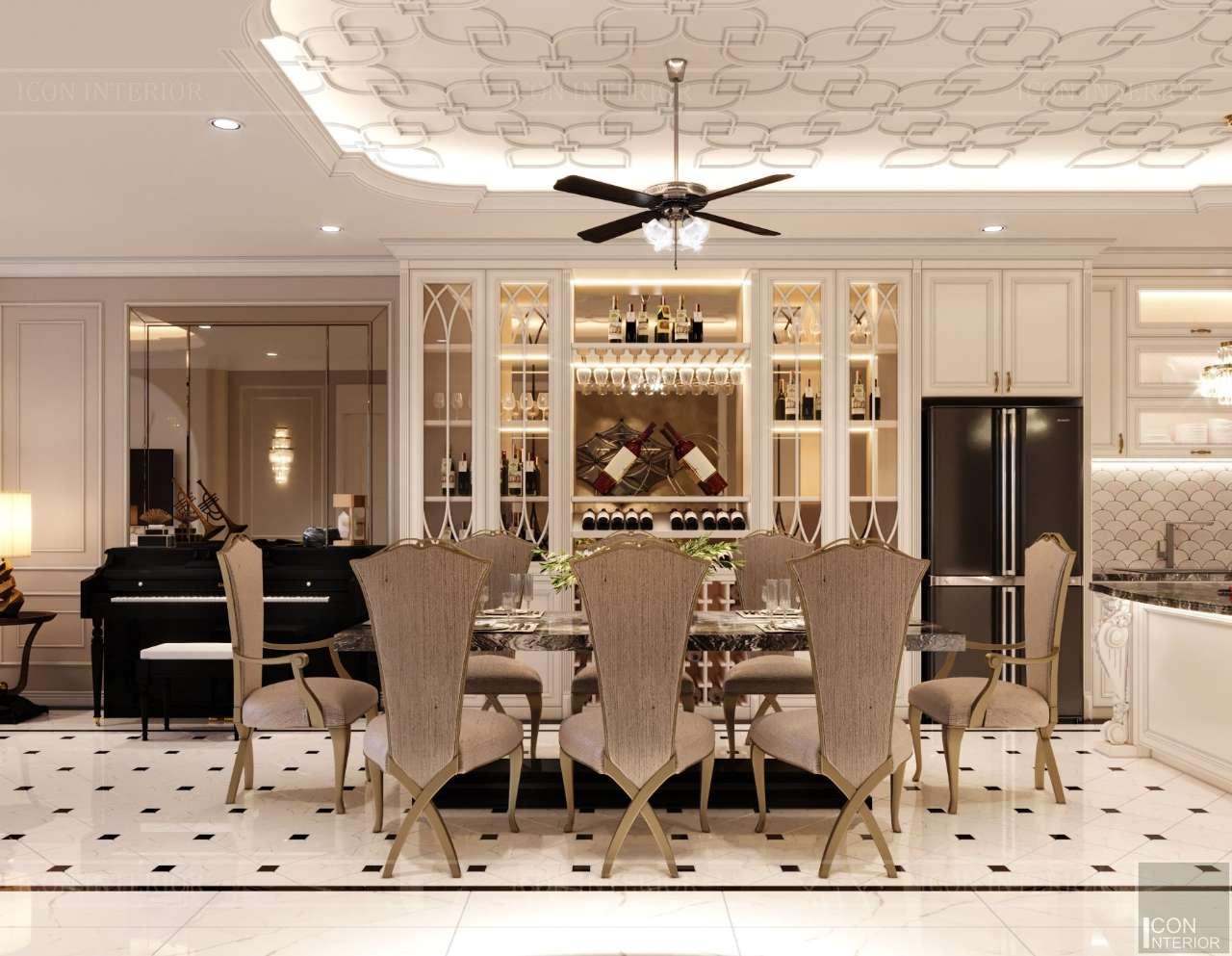 bộ bàn ghế ăn cao cấp penthouse quận 10 200m2 mr. Tuấn Anh
