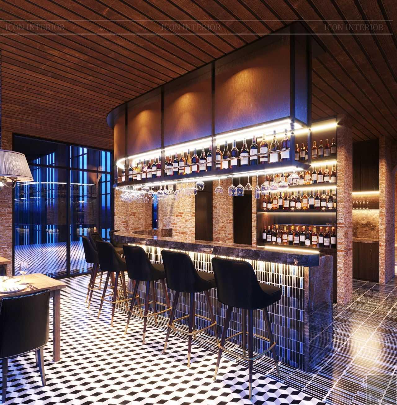 thiết kế quầy bar club house