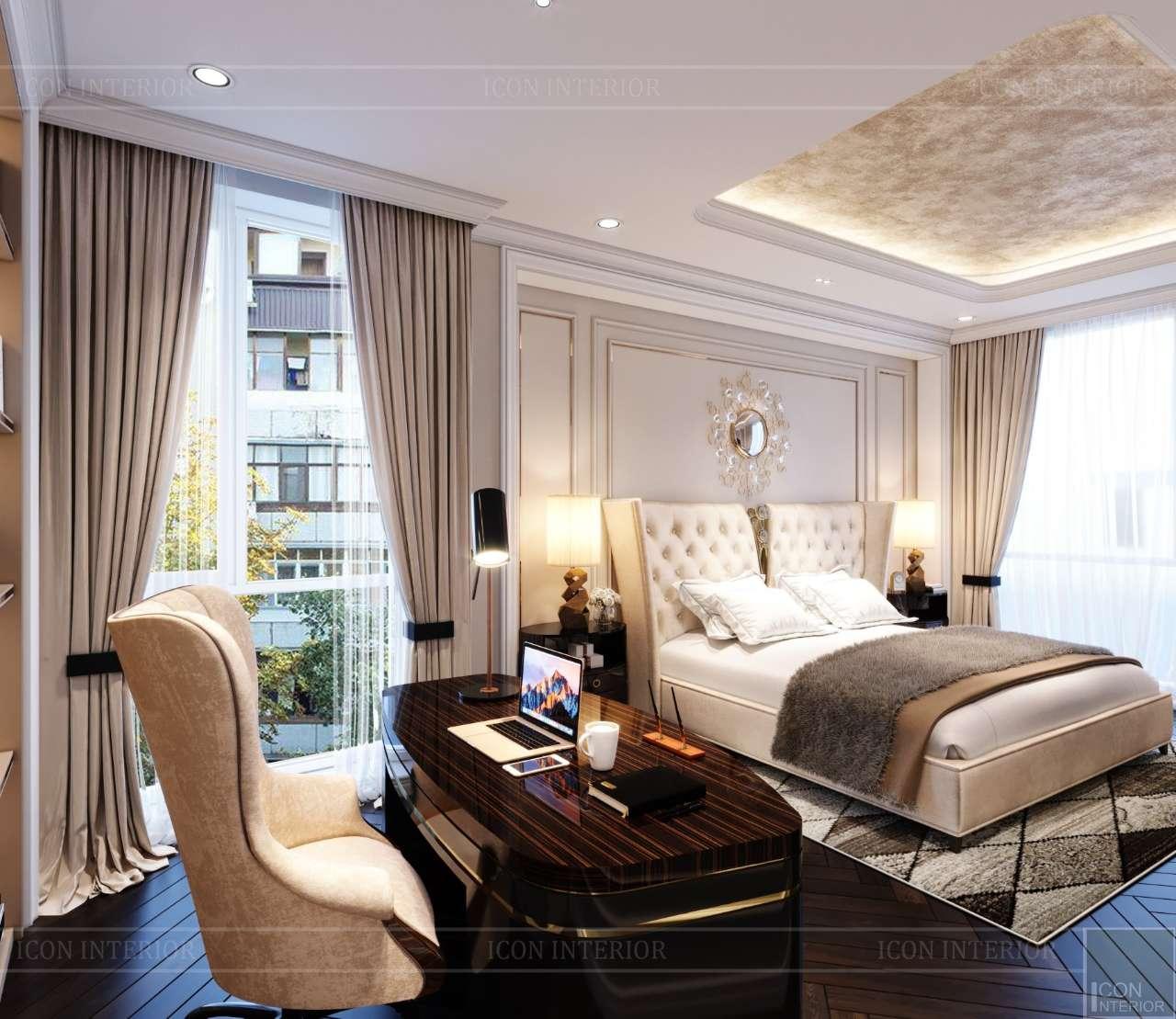 nội thất phòng ngủ master căn hộ 200m2