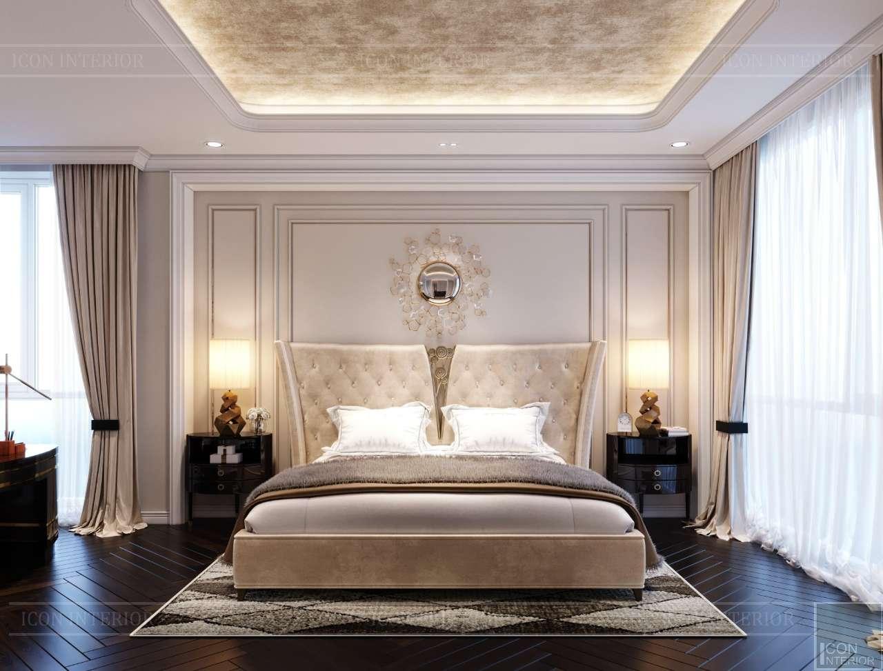 mẫu phòng ngủ master tân cổ điển căn hộ penthouse