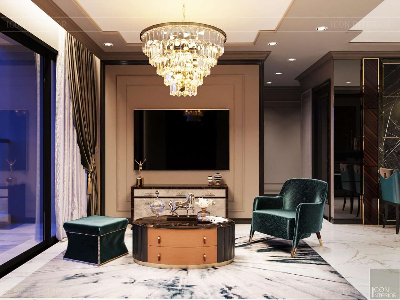 thiết kế căn hộ sunwah pearl 123m2 mr. anthony