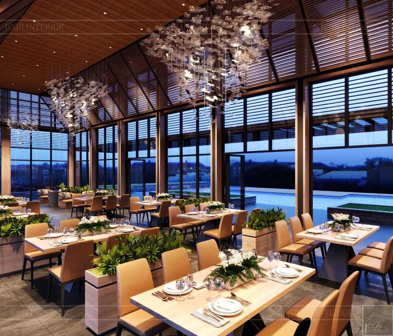 nhà hàng ẩm thực sân golf
