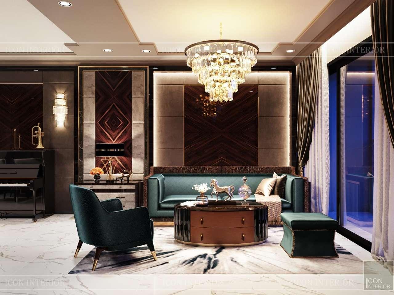 phòng khách chung cư cao cấp sunwah pearl