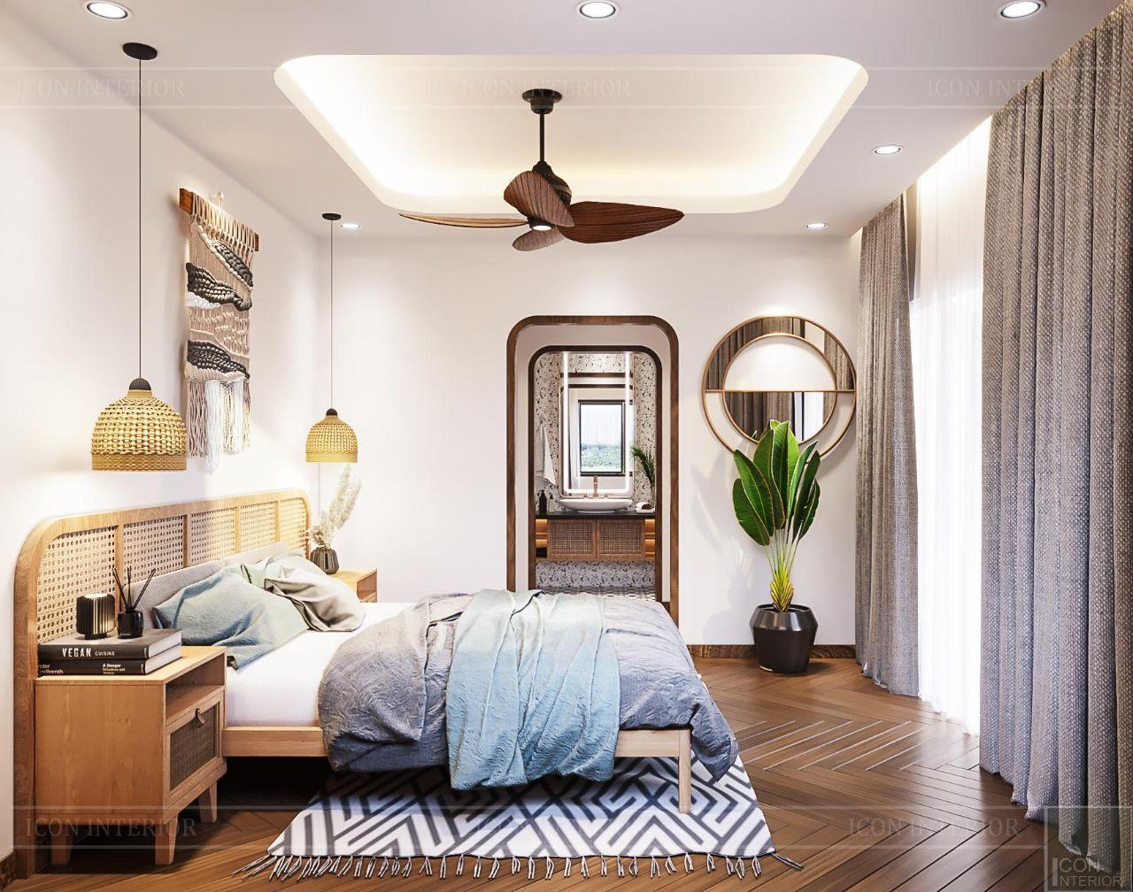 trang trí phòng ngủ theo phong cách tropical