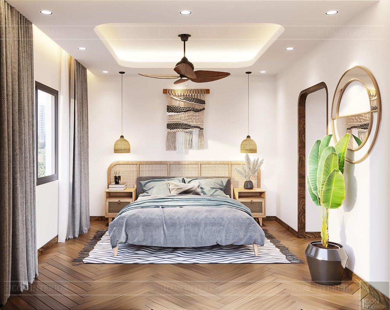 trang trí nội hất phòng ngủ biệt thự