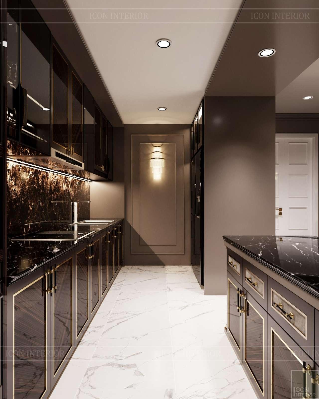 mẫu tủ bếp căn hộ chung cư