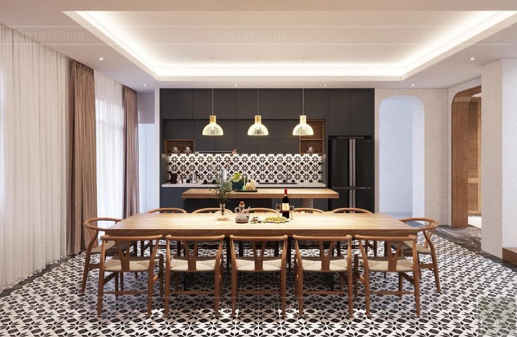 Gia chủ quý mão 1963 yêu thích thiết kế phòng bếp Indochine đẹp lạ mắt