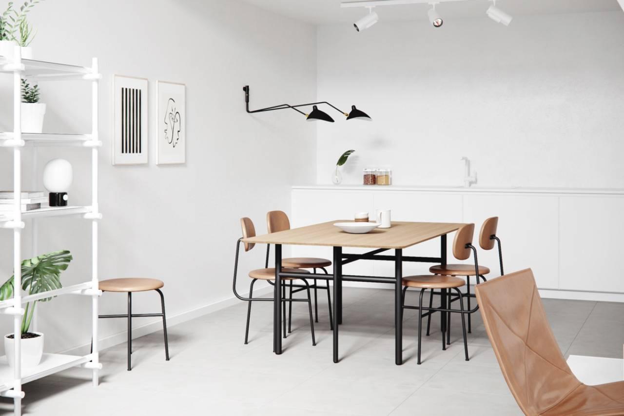 bộ bàn ghế ăn phong cách scandinavian