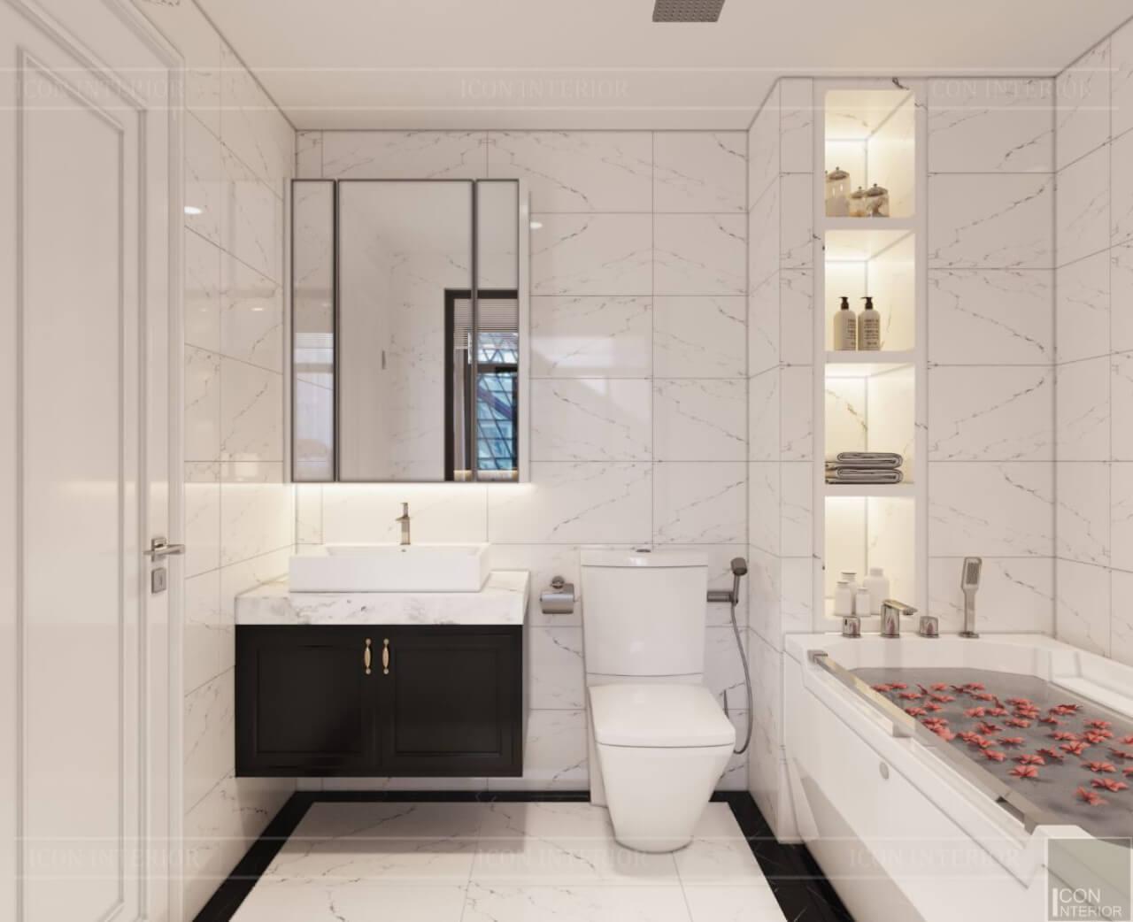sắp xếp phòng tắm nhỏ