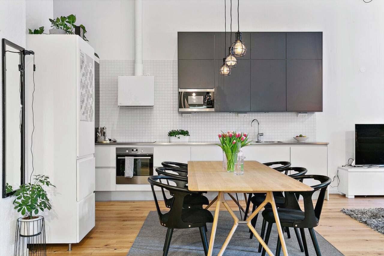 nội thất phòng bếp scandinavian