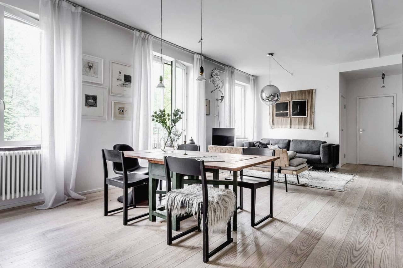 phòng bếp phong cách scandinavian