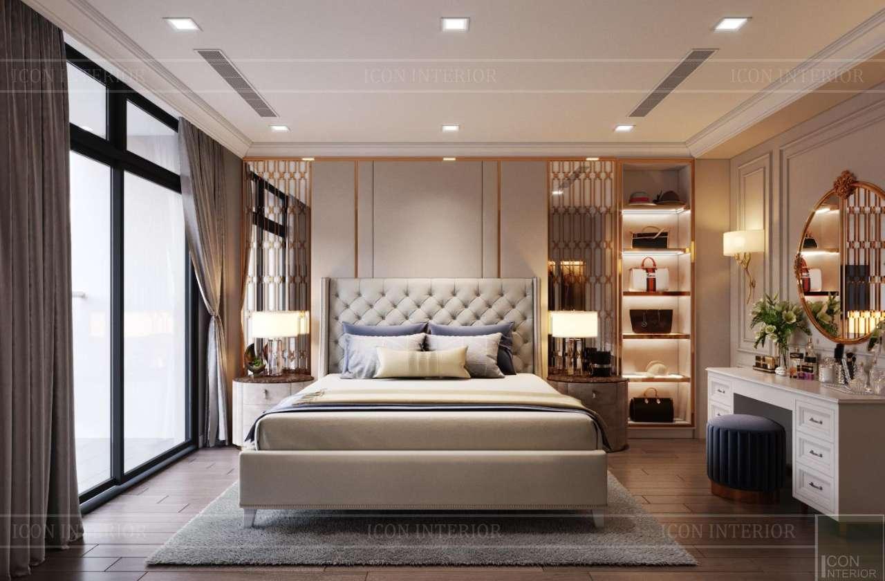 phòng ngủ tân cổ điển nhẹ nhàng