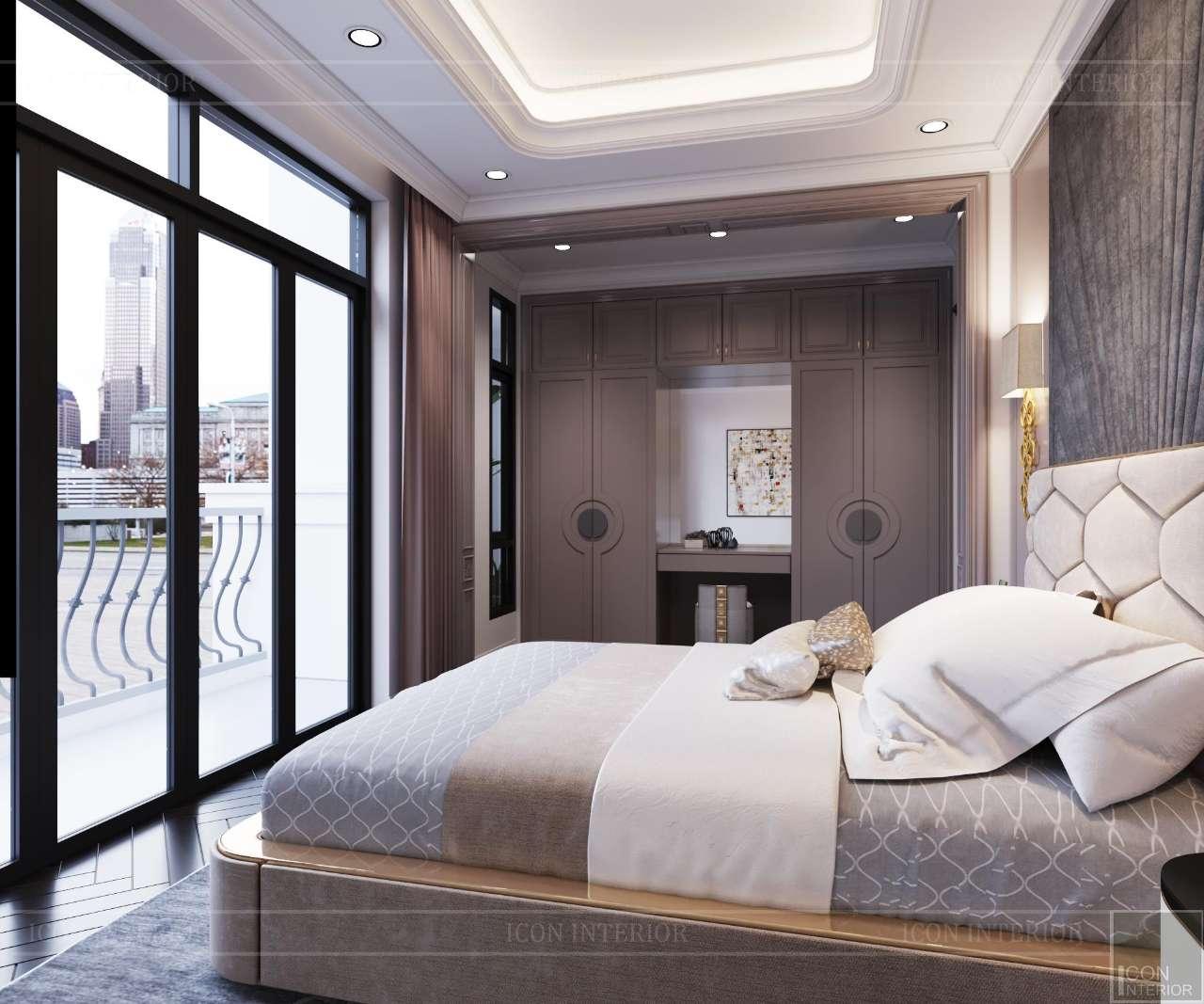 phòng ngủ kiểu tân cổ điển