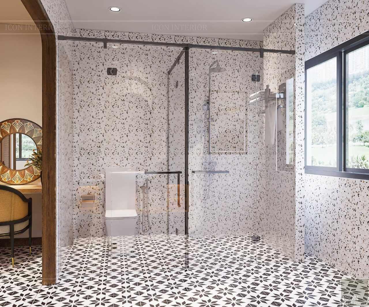 thiết kế phòng tắm tropical