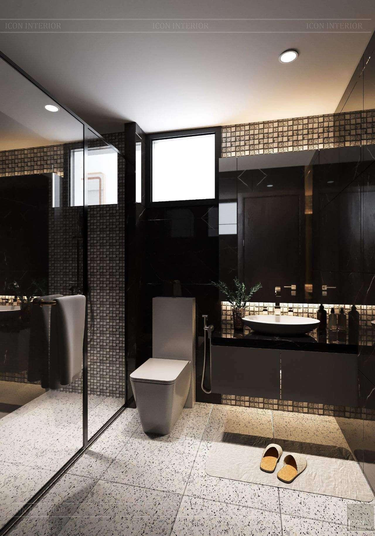 thiết kế phòng tắm hiện đại như resort