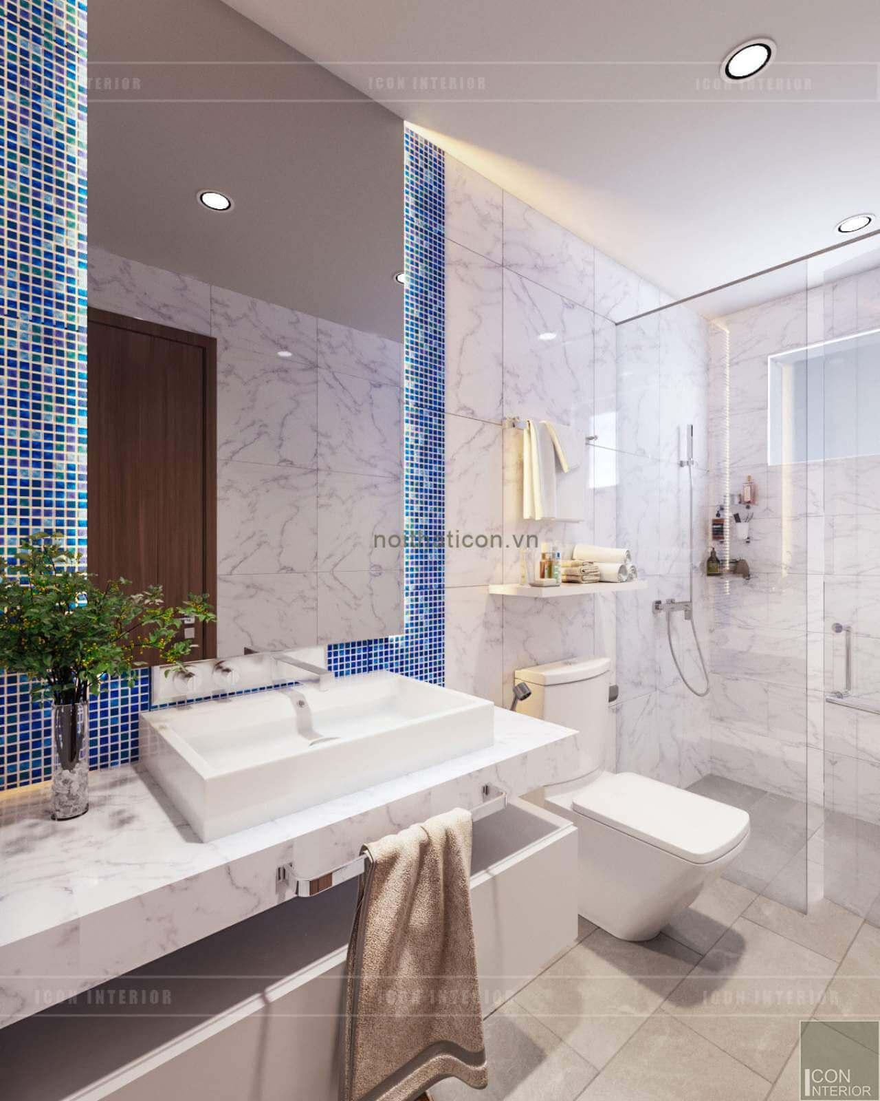 sắp xếp nội thất nhà tắm