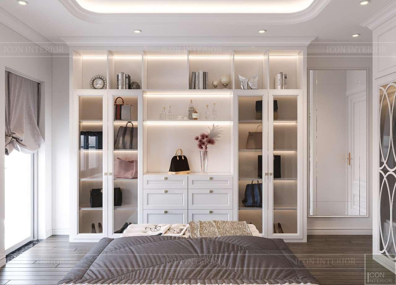 thiết kế thi công phòng ngủ tân cổ điển