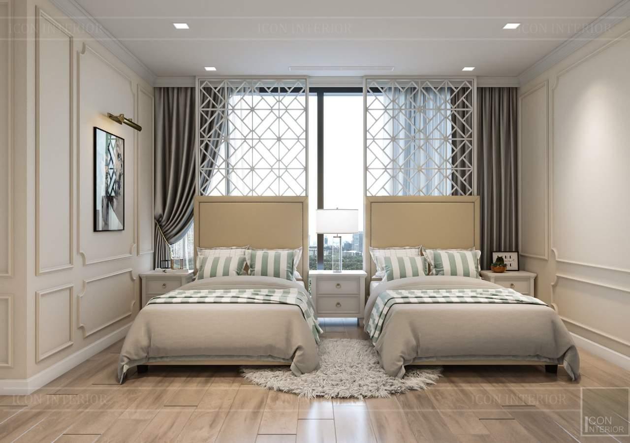 màu sắc phòng ngủ tân cổ điển