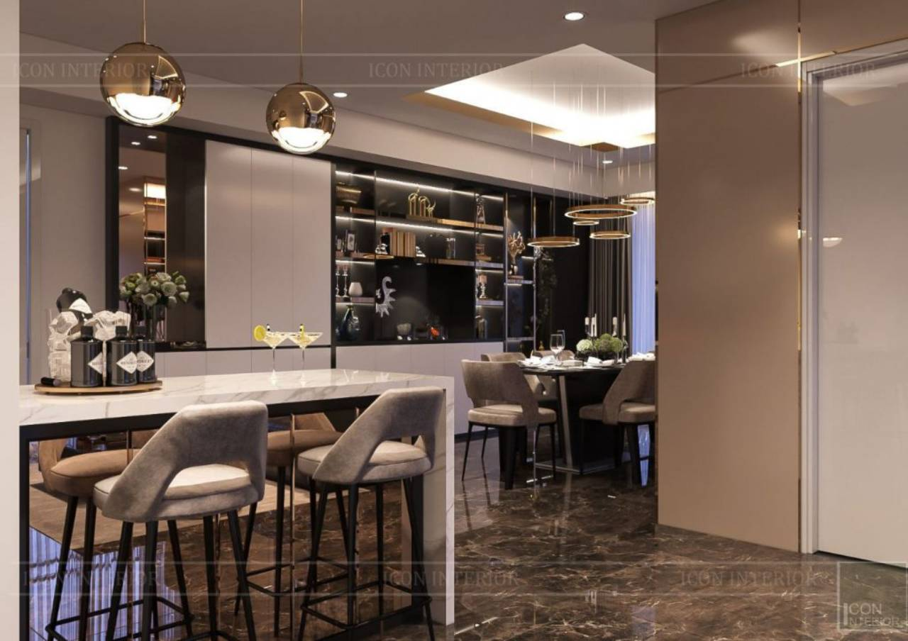 phòng ăn đẹp hiện đại