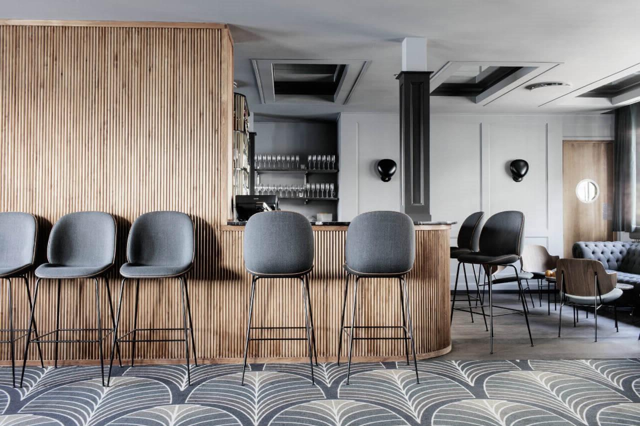 quầy bar quán cà phê scandinavian