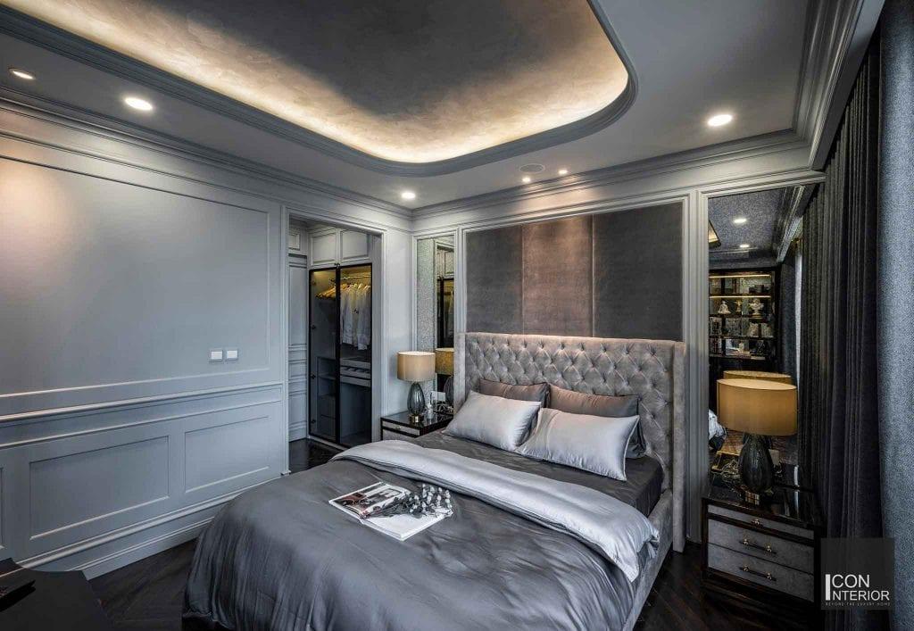 Phòng ngủ màu ghi cá tính, phá cách gia chủ tân mùi