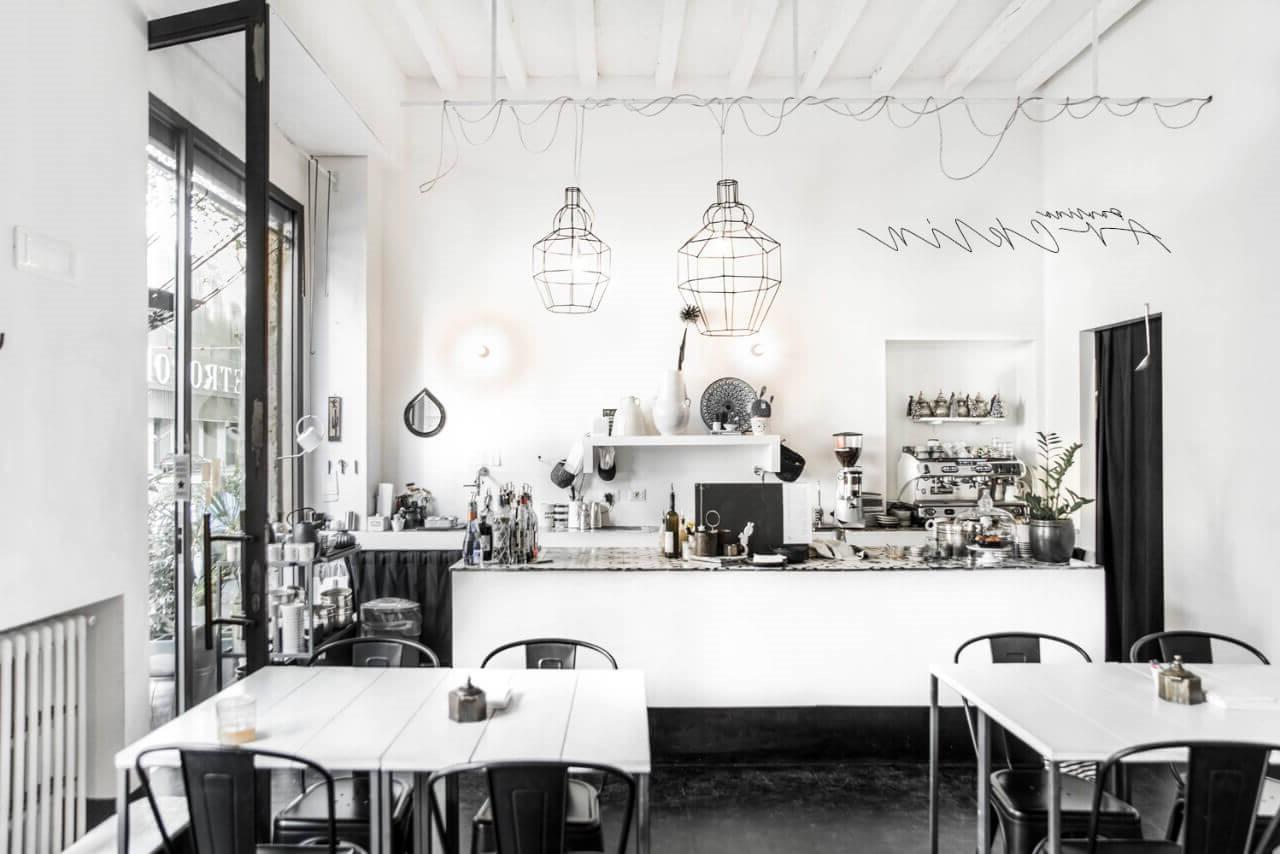 tối giản không gian quán cafe