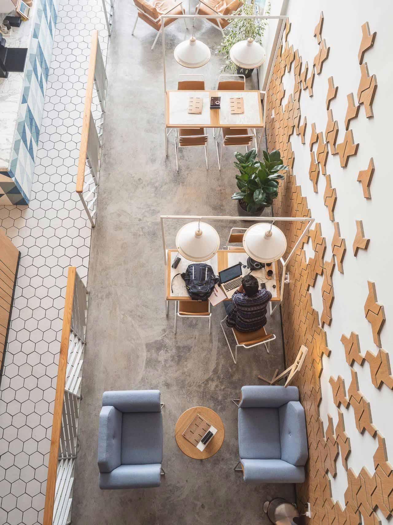 không gian quán cafe phong cách bắc âu