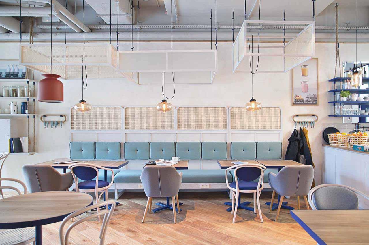 bộ sofa quán cafe phong cách bắc âu