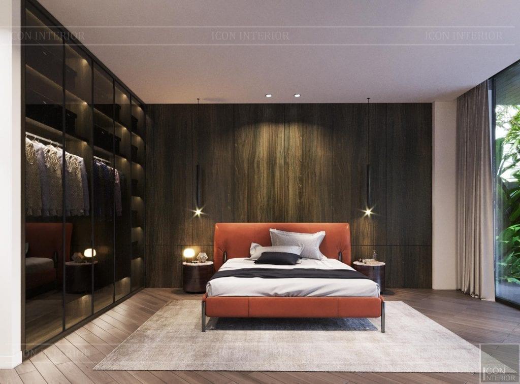 Giường ngủ màu cam hợp mệnh Hỏa gia chủ kỷ mùi