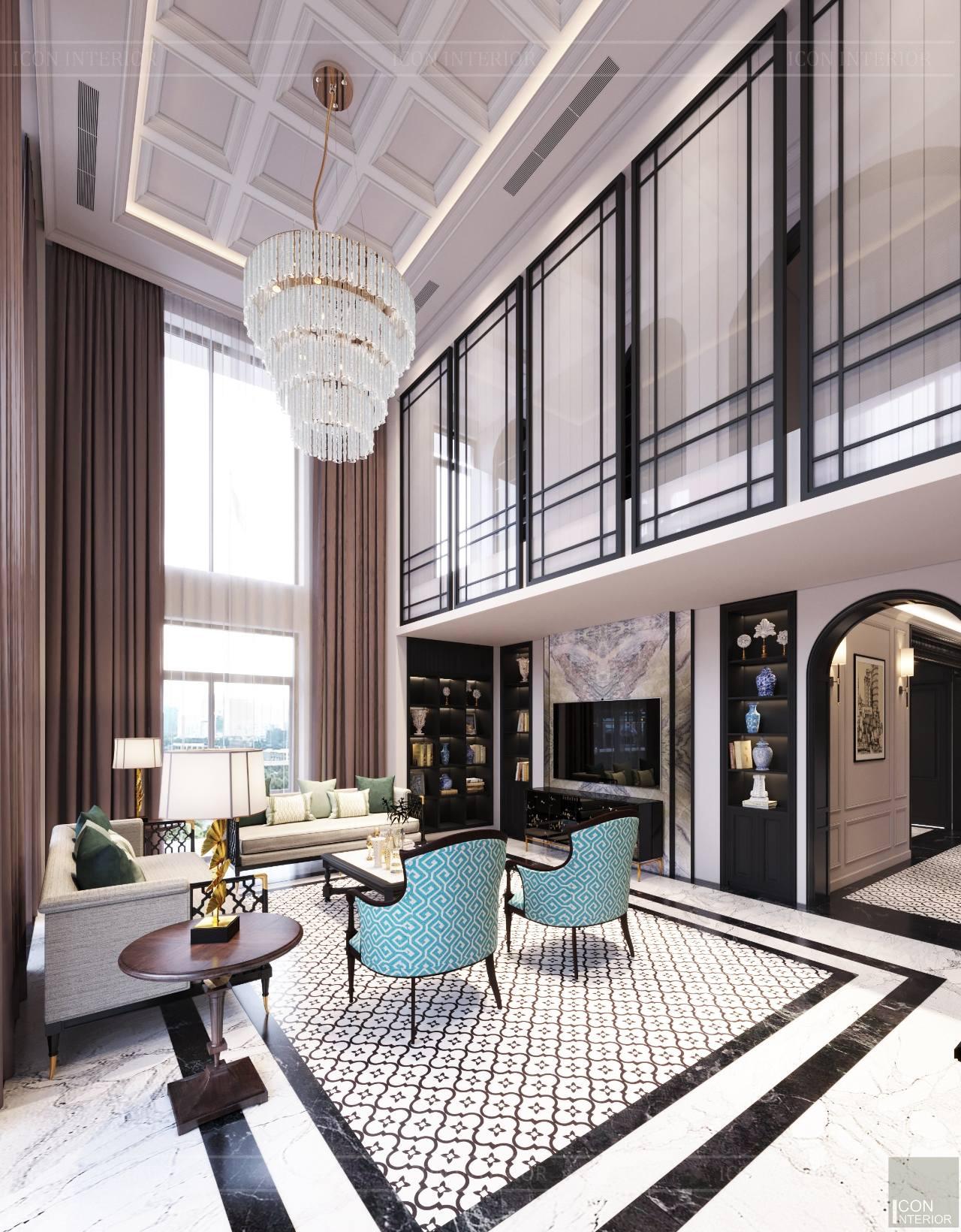 Thiết kế thi công nội thất căn hộ dupex