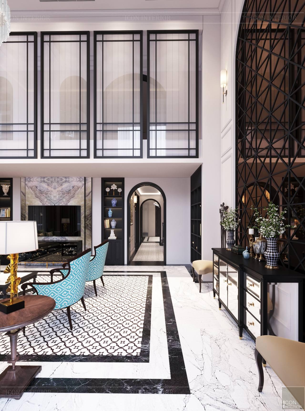 Thiết kế nội thất căn hộ dupex cao cấp