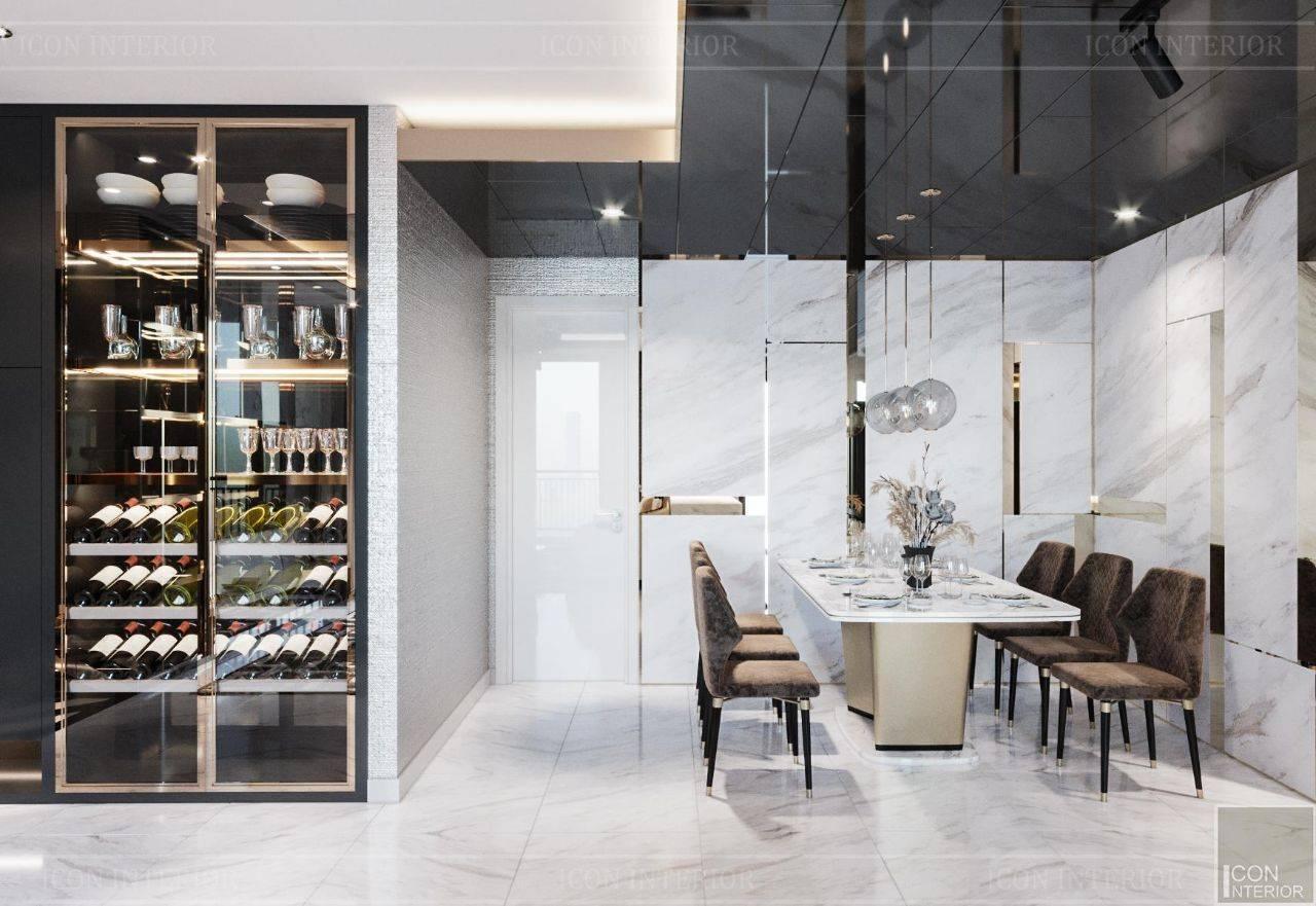 thiết kế phòng ăn chung cư hiện đại