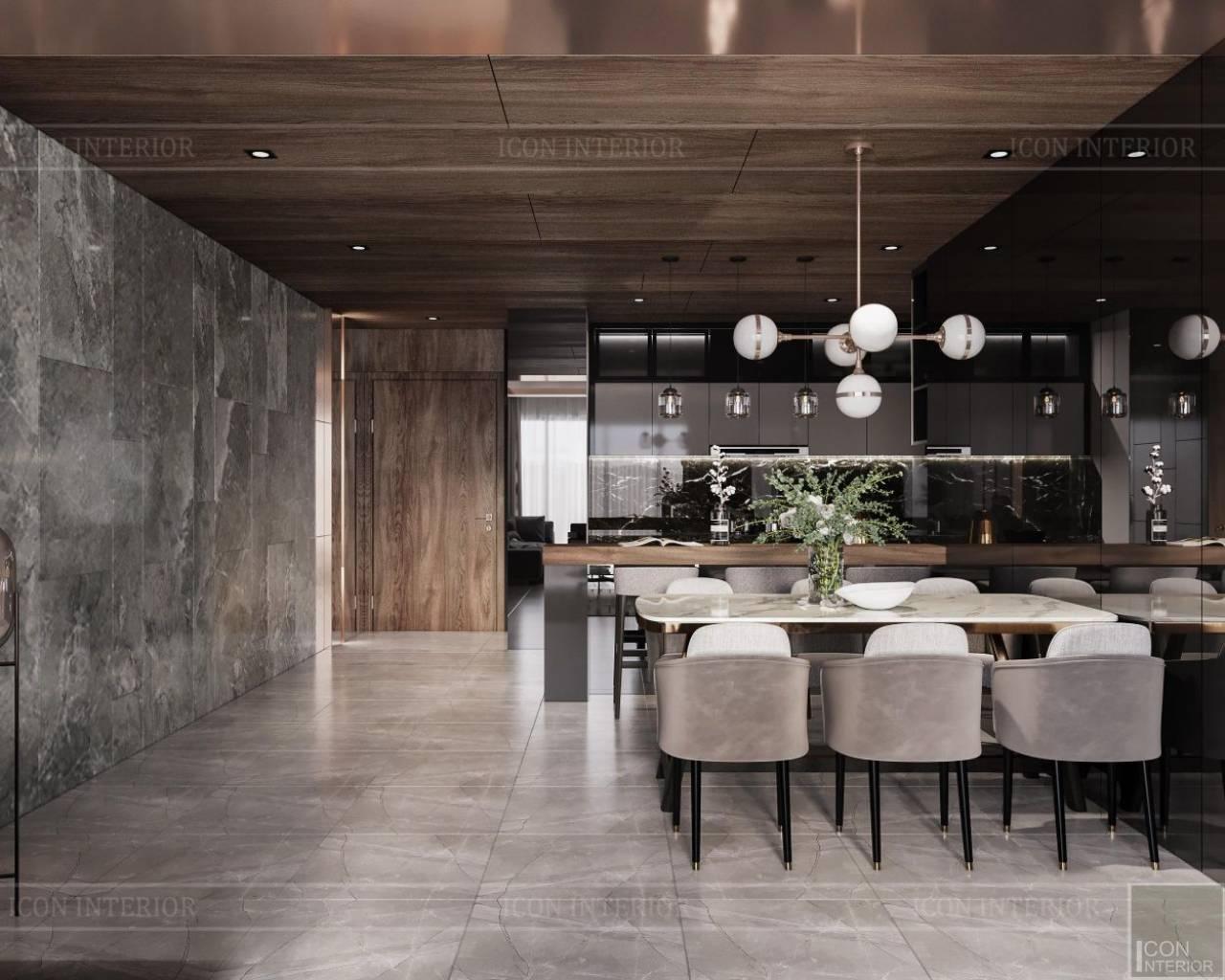 trang trí phòng ăn hiện đại