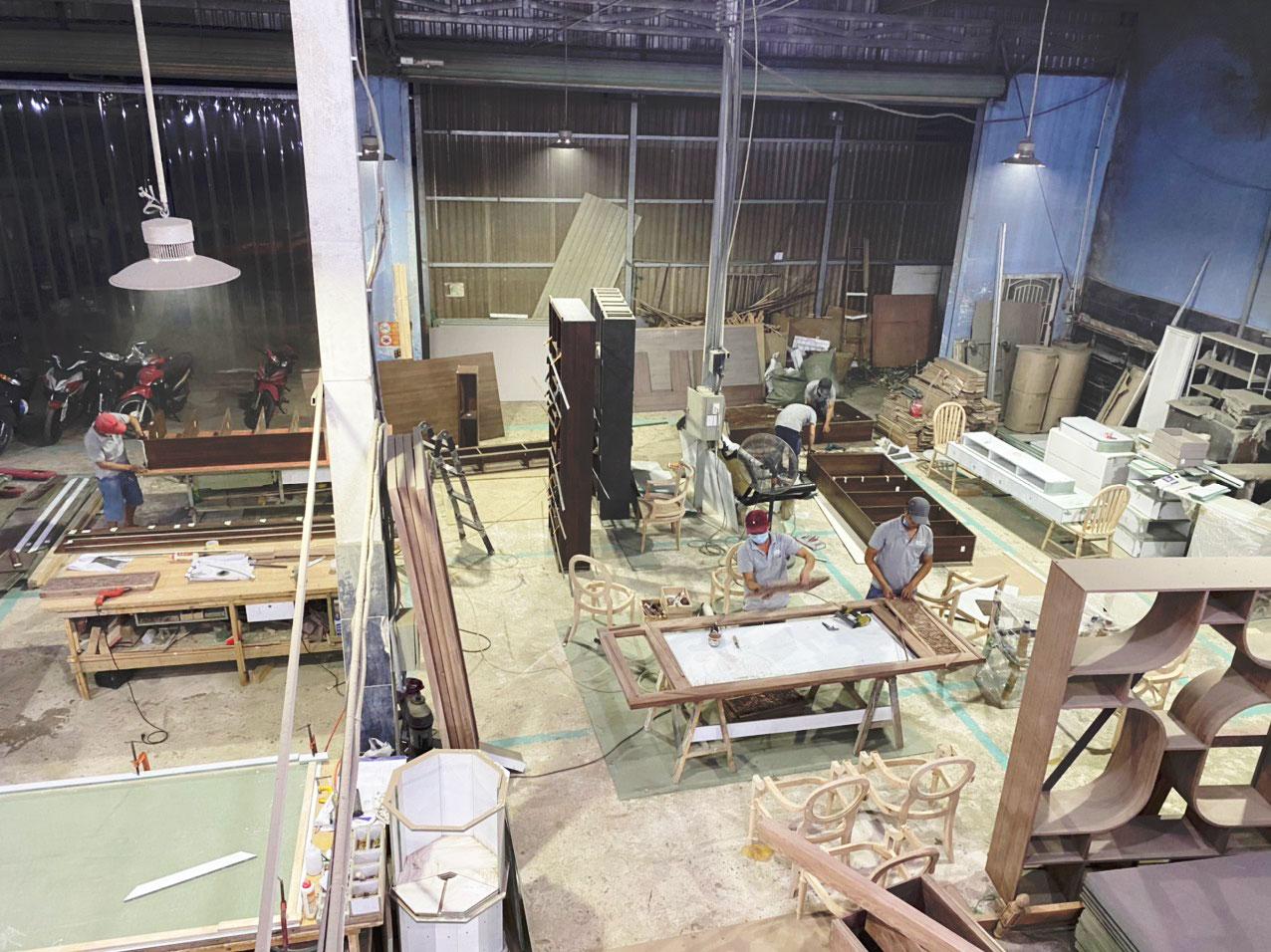 xưởng sản xuất nội thất chung cư