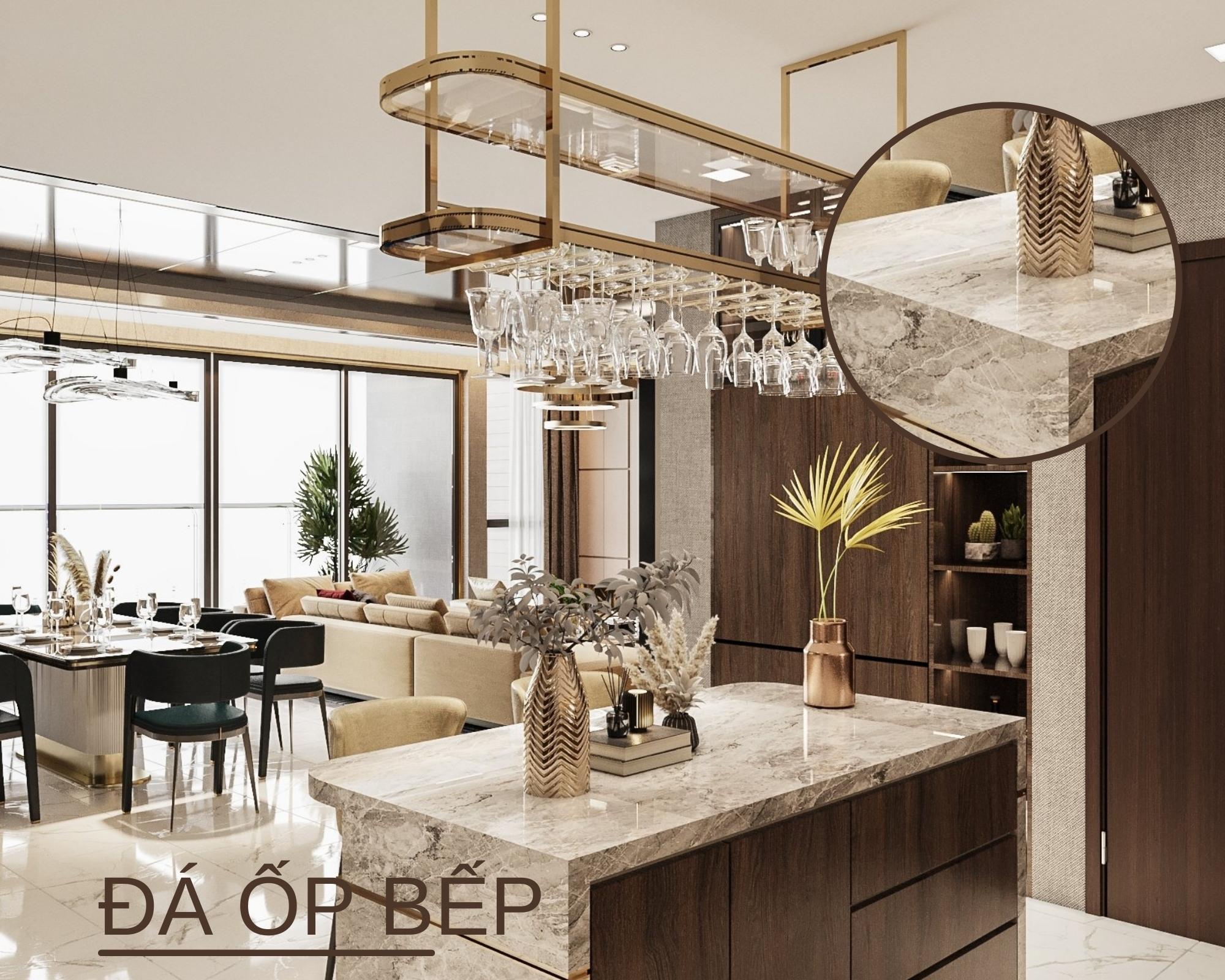 Chọn vật liệu thiết kế phòng bếp phong cách hiện đại