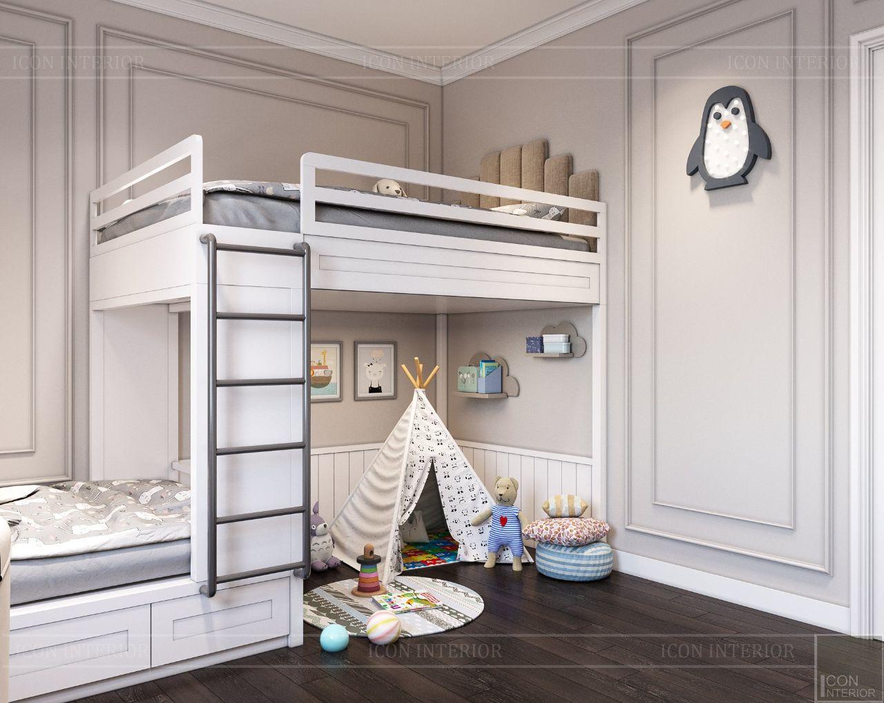 giường tầng phòng ngủ trẻ em