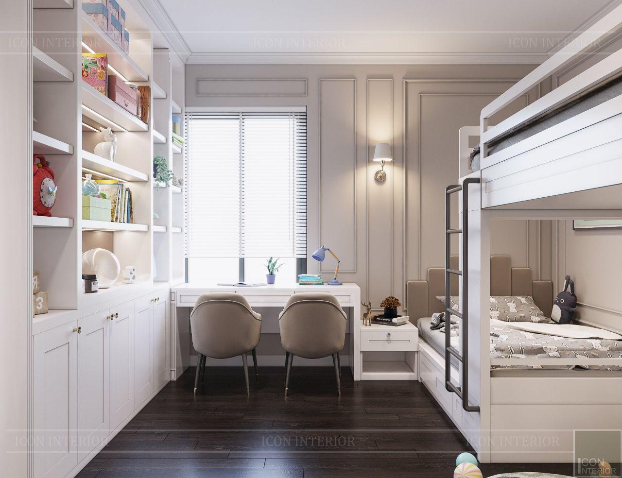 thiết kế nội thất phòng ngủ trẻ em lavila