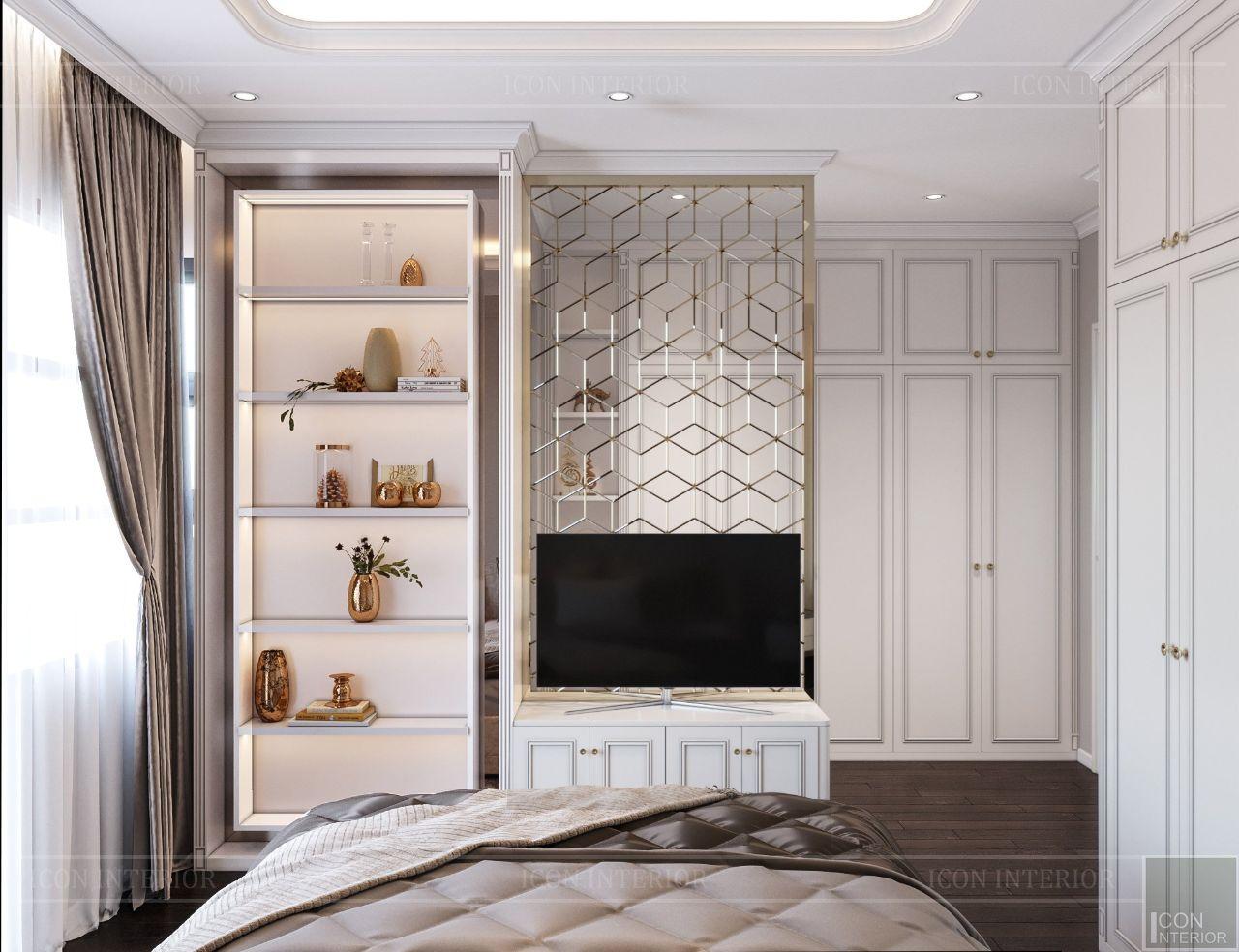 thiết kế nội thất phòng ngủ nhà phố liền kề