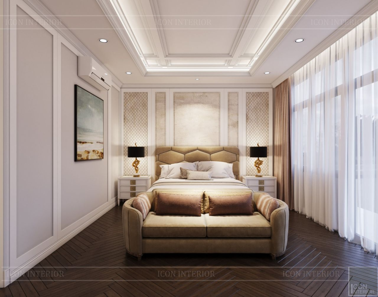 thiết kế phòng ngủ nhà phố Lavila Kiến Á 3 tầng