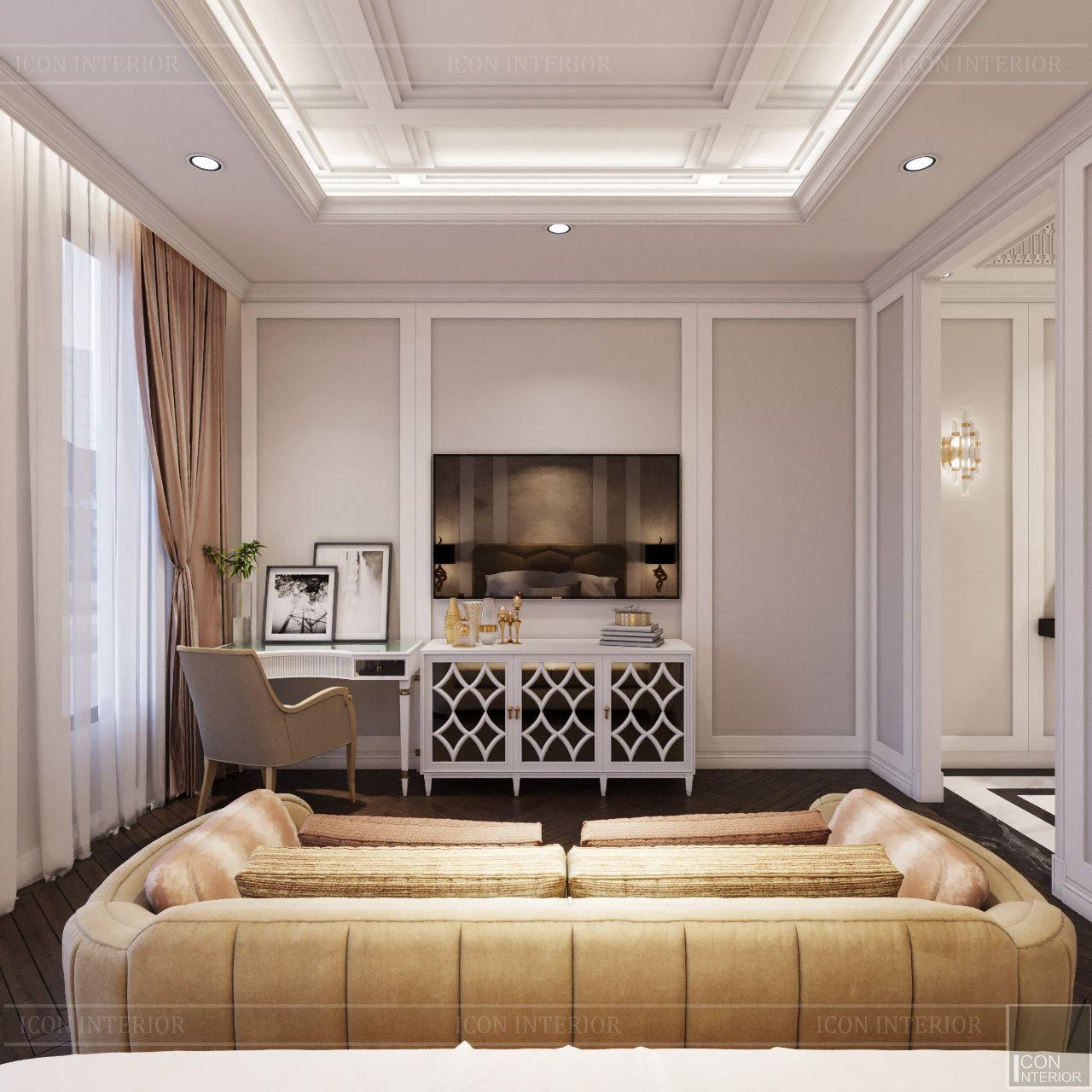 tủ tivi phòng ngủ nhà phố Lavila Nhà Bè